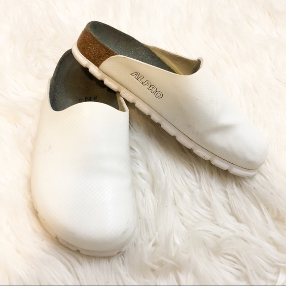 outlet store famous brand size 7 💕Birkenstock Alpro white slip on shoes 5